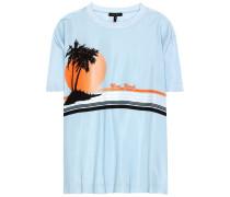 T-Shirt aus Seide mit Print