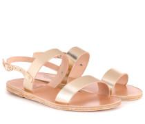 Sandalen Clio aus Metallic-Leder