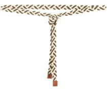 Geflochtener Bindegürtel mit Leder