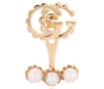 Ohrring Double G Pearl Single aus 18kt Gelbgold und Perlen