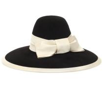 Hut aus Filz mit Satinband