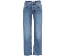 High-Rise Jeans mit geradem Bein