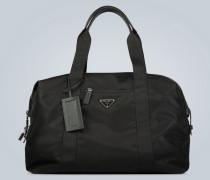 Reisetasche mit Leder-Details