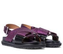 Sandalen aus Leder mit Gitter