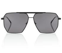 Eckige Aviator-Sonnenbrille