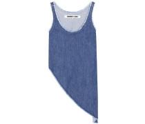 Asymmetrisches Top aus Baumwoll-Denim