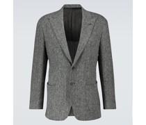 Blazer aus Tweed mit Fischgrätmuster