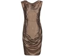 Gerafftes Kleid aus Satin