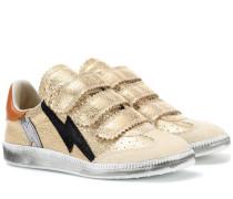 Sneakers Beth aus Metallic-Leder