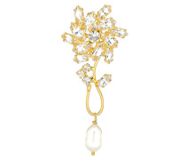 Einzelner Ohrring Borage mit Perlen
