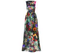 Langes Kleid aus Seide