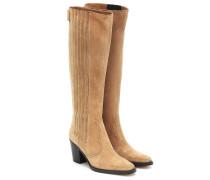 Stiefel Western aus Veloursleder