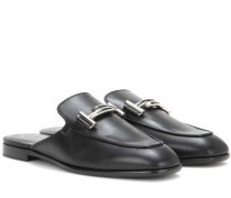 Slippers Double T aus Leder