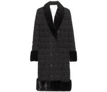 Mantel aus Cashmere, Häkelspitze und Nerz
