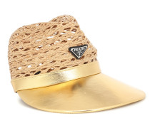 Hut aus Raffiabast und Leder