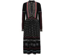 Besticktes Kleid aus Samt