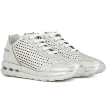 Sneakers Gil aus Metallic-Leder