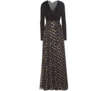 Bodenlanges Kleid Aviva aus Jersey und Lamé