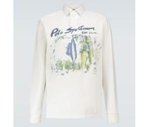 Bedrucktes Langarmshirt aus Baumwolle