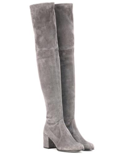 Overknee-Stiefel Tieland aus Veloursleder