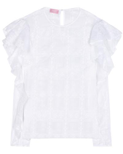 Bluse aus einem Baumwollgemisch
