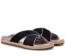 Sandalen Nox Flat aus Samt