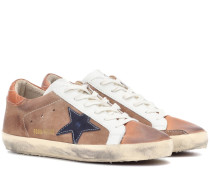Sneakers Superstar aus Veloursleder