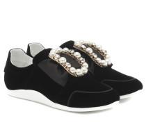 Sneakers Sporty Viv' Bow aus Samt