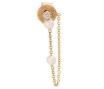 Einzelner Ohrring Boucle Perle aus 14kt Gelbgold mit Perlen