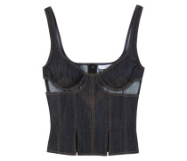 Denimtop Cut Out Bodice