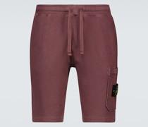 Shorts aus Baumwolle mit Kordelzug
