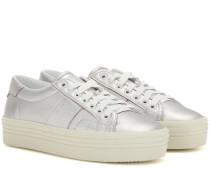 Sneakers Signature Court Classic SL/39 aus Metallic-Leder