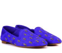 Loafers Ananas aus Veloursleder