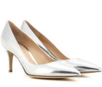 Pumps Gianvito 70 aus Metallic-Leder