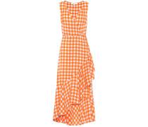 Kleid aus Seide mit Volants