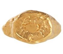 Vergoldeter Ring Cancer aus Sterlingsilber