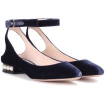 Exklusiv bei mytheresa.com – Samt-Ballerinas Lola Pearl