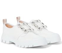 Sneakers Walky Viv' Strass aus Leder