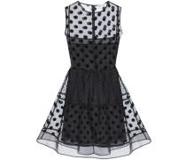 Kleid aus beflocktem Seidenorganza