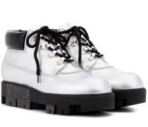 Ankle Boots Tinne aus Metallic-Leder