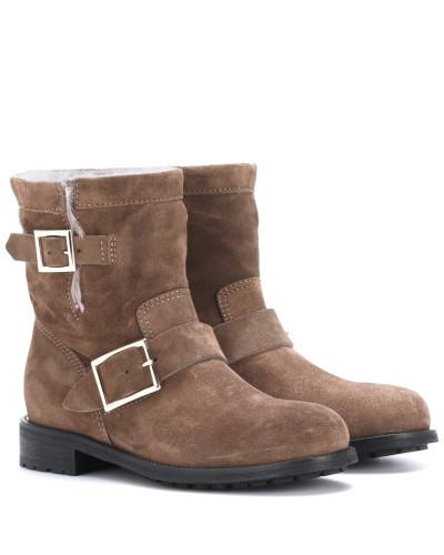 Freies Verschiffen Manchester Großer Verkauf Jimmy Choo Damen Ankle Boots Youth aus Veloursleder Online Einkaufen lWKRTM7OC