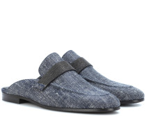 Slippers mit Verzierung
