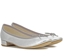 Ballerinas Jane aus Metallic-Leder