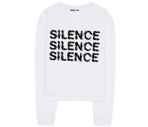 Baumwollsweater Silence mit Print