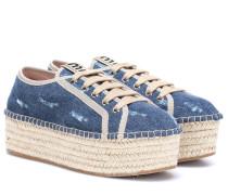 Espadrille-Sneakers aus Denim