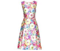 Kleid mit floralem Print aus Seide und Baumwolle