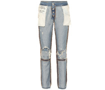 High-Rise Jeans Inside Out Reverse