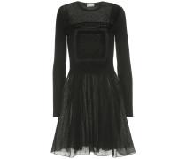 Besticktes Kleid aus Wolle und Tüll