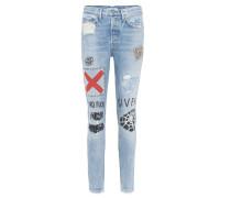 Distressed Jeans Karolina mit Verzierungen