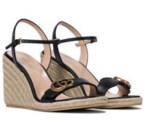 Wedge-Sandalen GG aus Leder